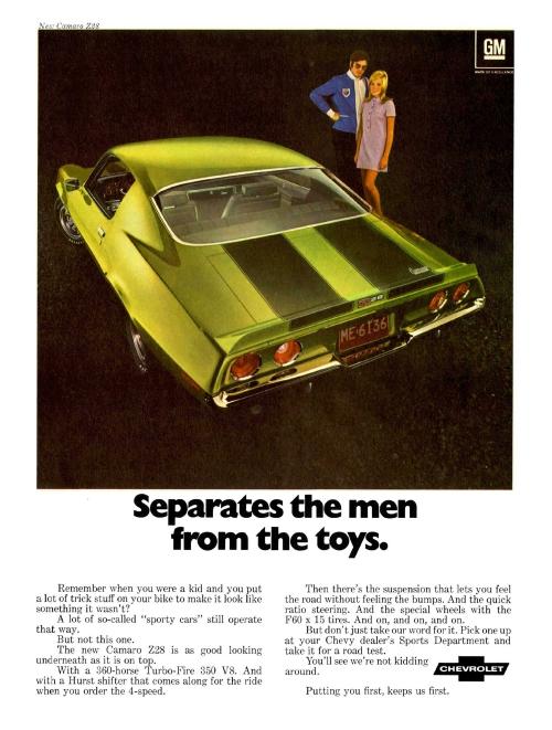 1970 Camaro Z/28 Ad