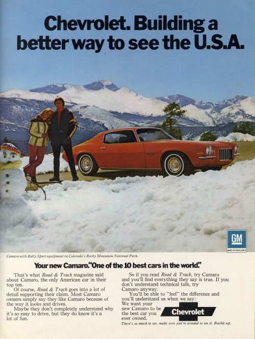 1972 Better Way To See The USA Camaro Ad