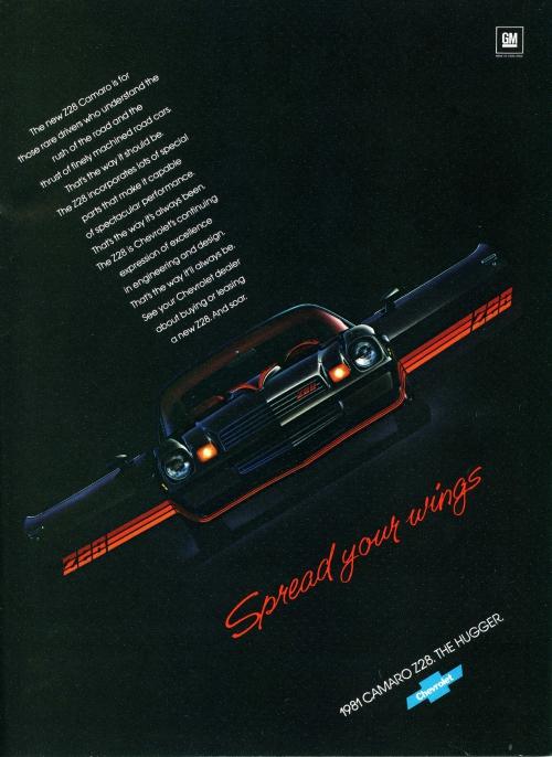 "1981 Camaro ""Wings"" Ad"