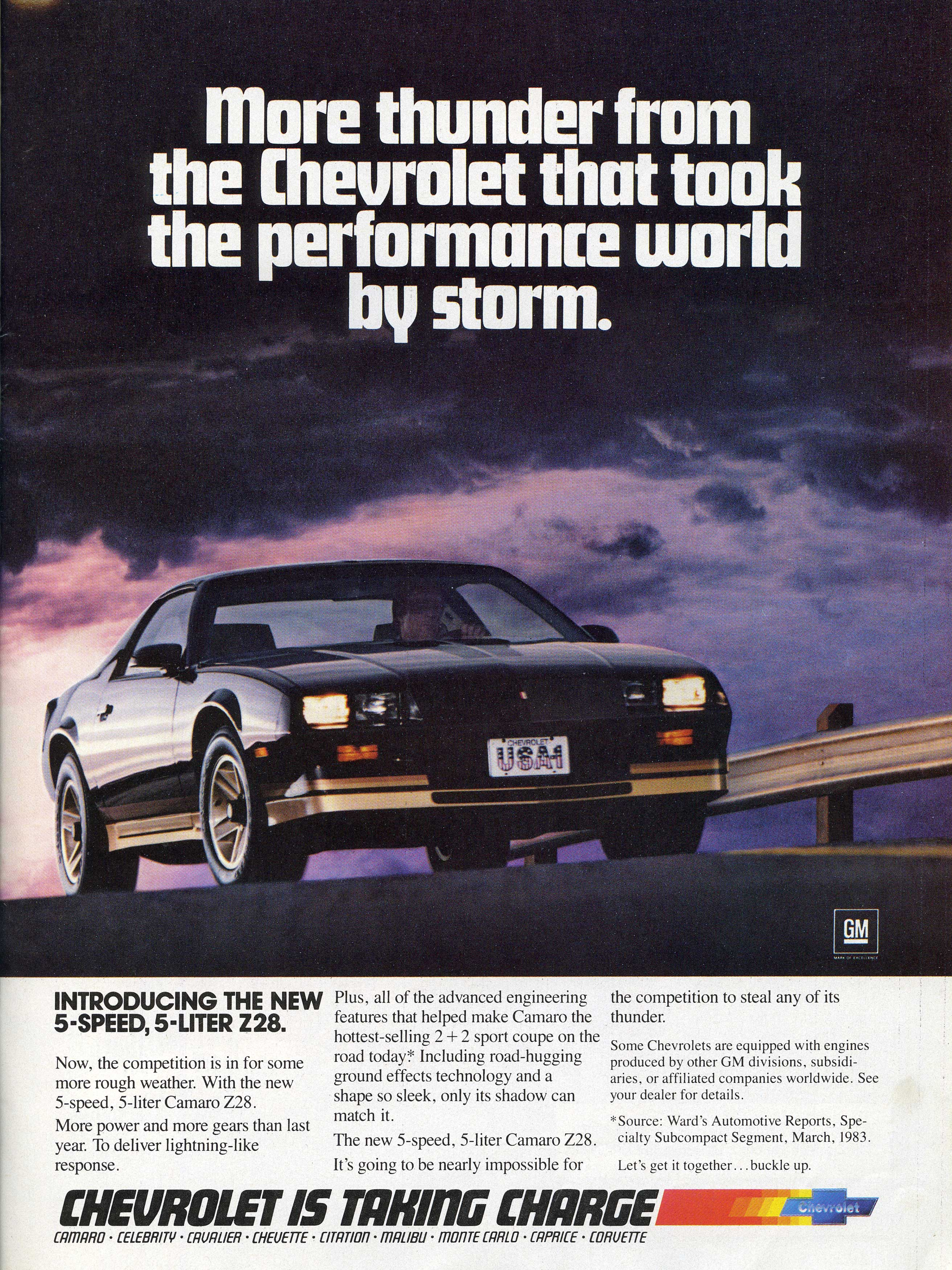Coolest 3rd Gen Chevy Camaro Ads Of The 1980s Chevys Only