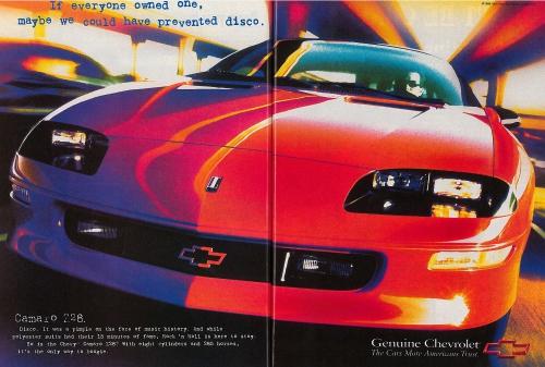 1997 Chevy Camaro Z28 Ad