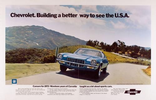 1972 Camaro Better Way Ad