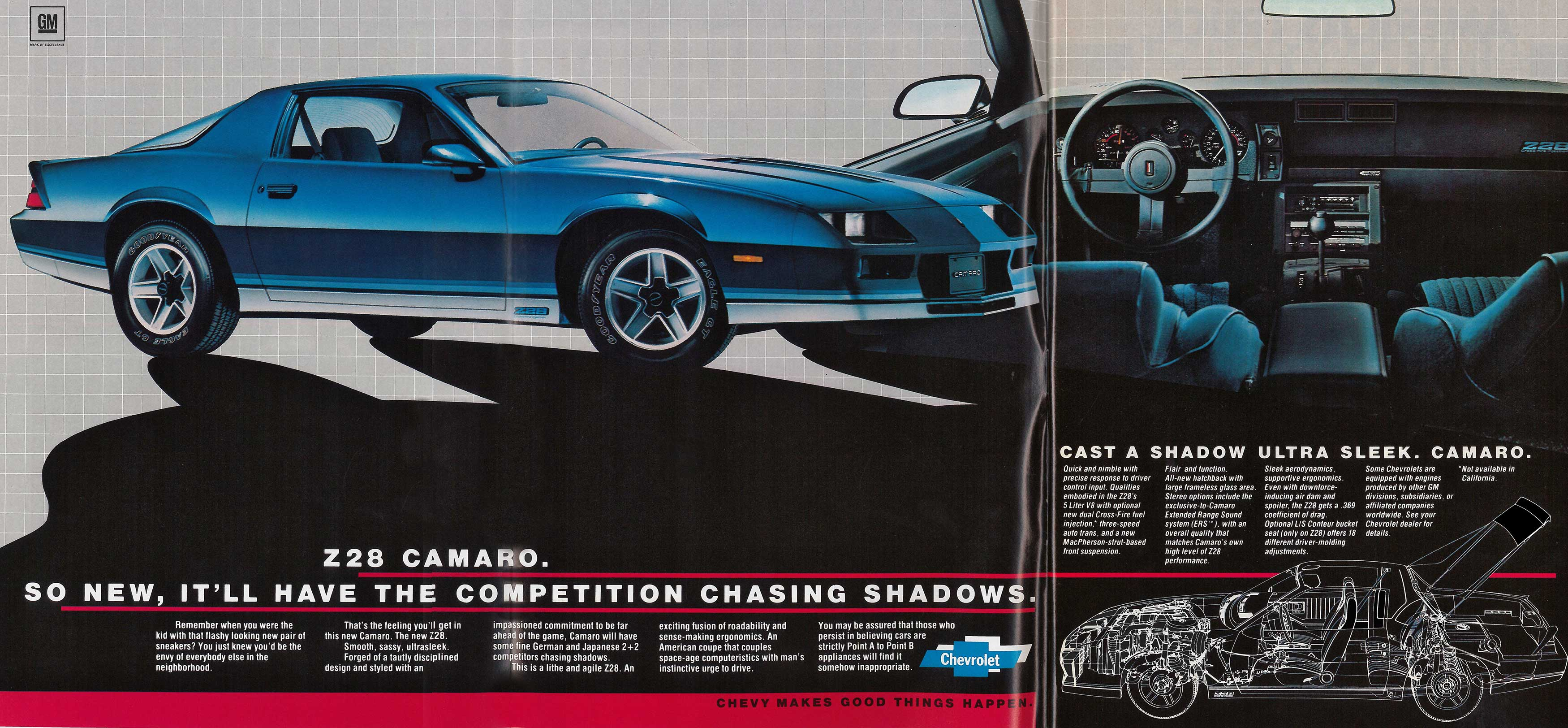 Vintage Chevy Camaro >> Coolest 3rd Gen Chevy Camaro Ads of the 1980s! | Chevys Only
