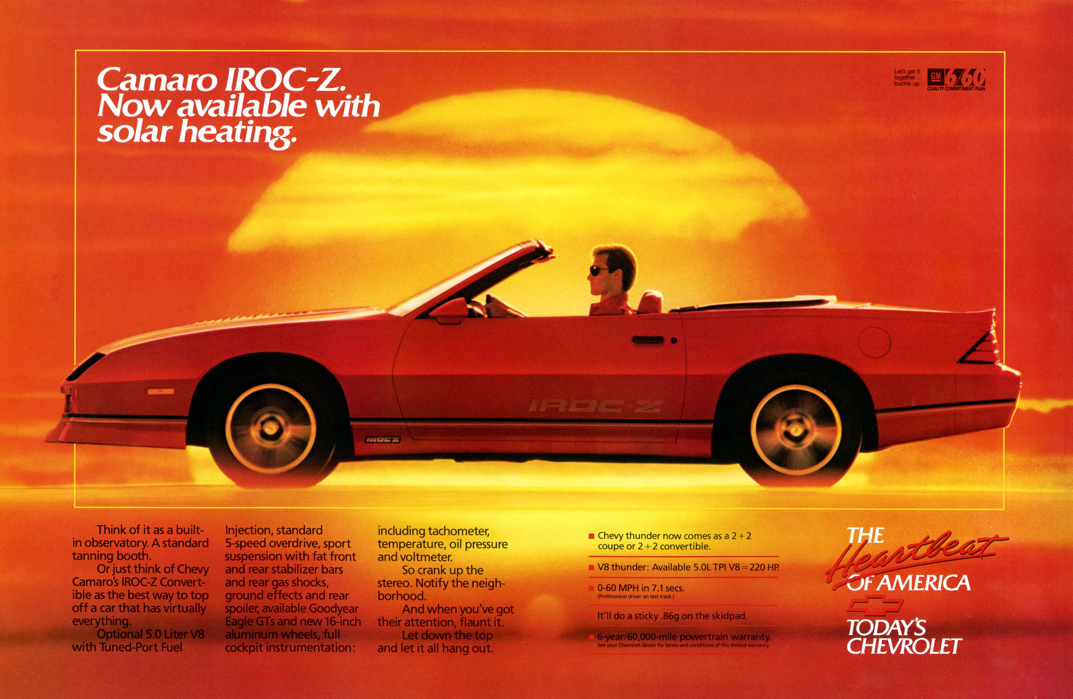 2018 Camaro Iroc Z >> Coolest 3rd Gen Chevy Camaro Ads of the 1980s! | Chevys Only