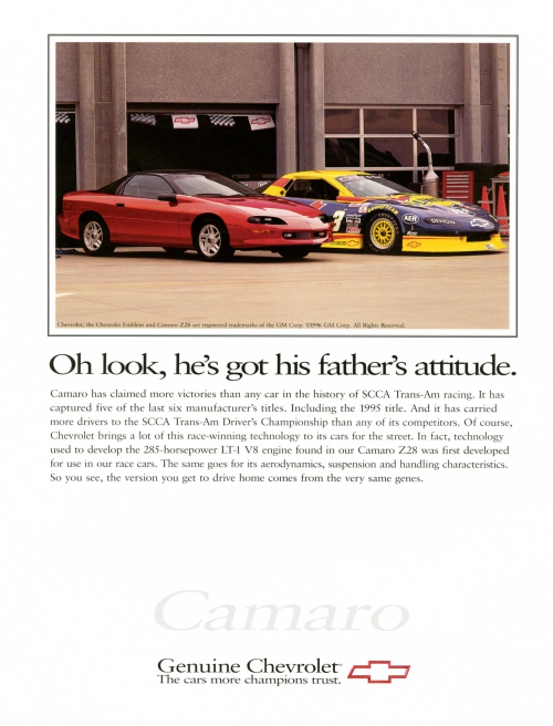 1996 Camaro Z/28 Race car ad