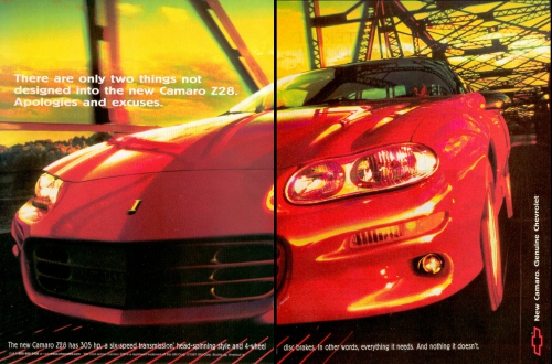 1998 Camaro Z/28 Ad