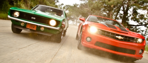 1969 Camaro and 2015 Camaro