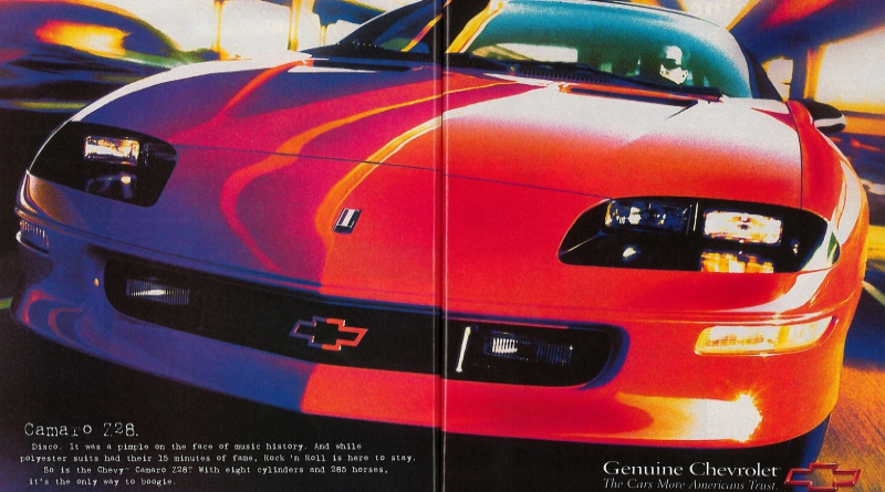 The Few Ads Of The 1990s 4th Gen Camaro Chevys Only